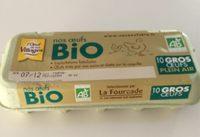 10 Gros œufs Plein Air Bio - Voedingswaarden - fr