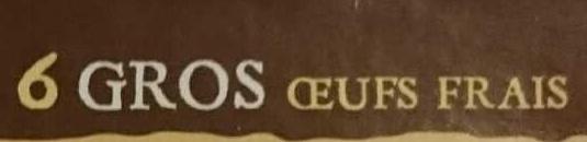Oeufs frais - Ingredients - fr