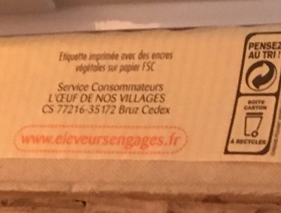12 Oeufs Village Basse Cour Moyen Baby Coque - Ingredients