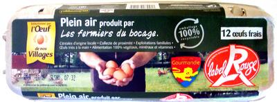 12 oeufs frais Label Rouge - Product