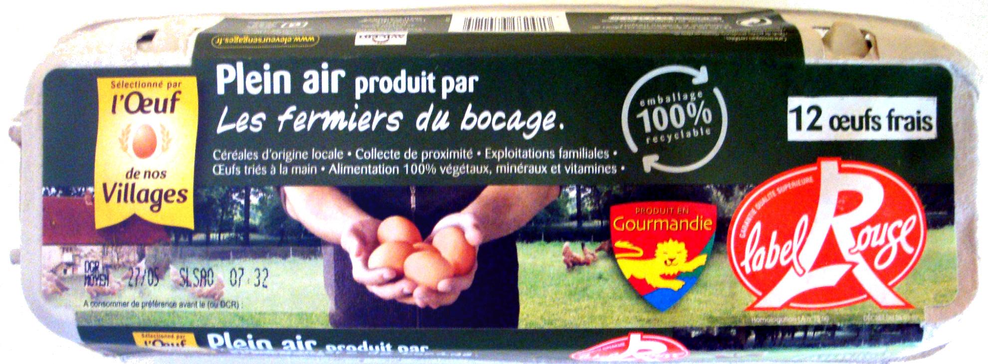 12 oeufs frais Label Rouge - Product - fr