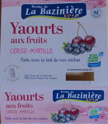 Yaourts aux fruits cerise-myrtille - Product - fr