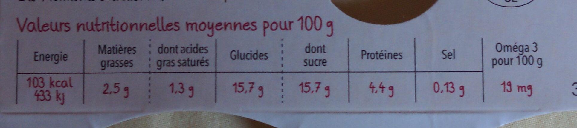 Yaourts aux fruits cerise-myrtille - Nutrition facts - fr