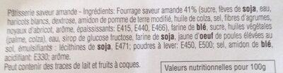 Couques Saveur Amande Renardises 300 G - Ingrédients - fr