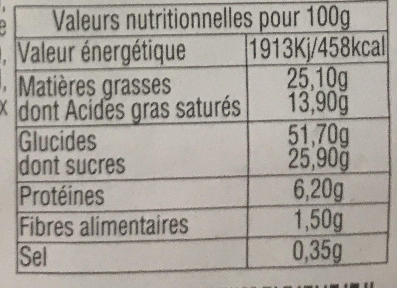 Gaufres Fantasia - Informations nutritionnelles - fr
