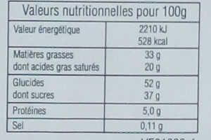 Gaufrettes Chocolat - Nutrition facts - fr