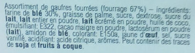 Gaufrettes Assorties - Ingredients - fr