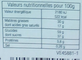 Gaufrettes Assorties - Nutrition facts - fr