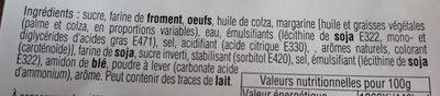 Gaufres Flash Poudrées - Ingrediënten - fr