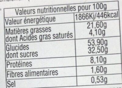 Gaufres Flash Poudrées - Voedingswaarden