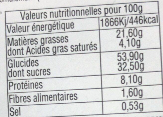 Gaufres Flash Poudrées - Voedingswaarden - fr