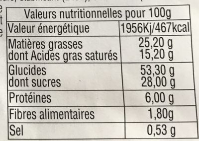 Gaufres - Nutrition facts
