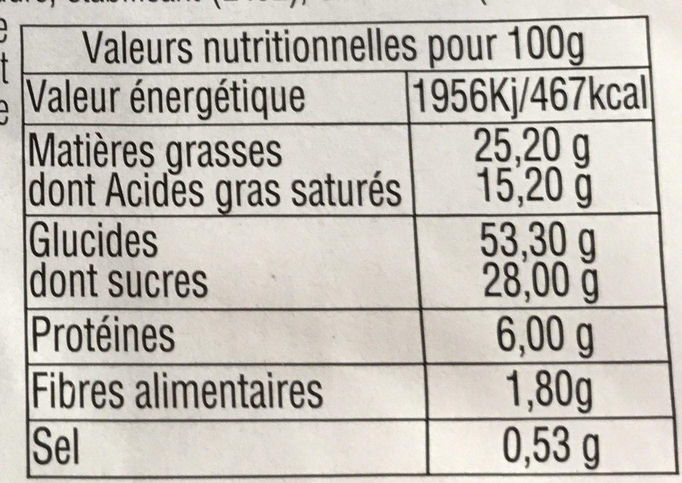 Gaufres - Voedingswaarden