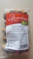Gaufres liégeoises nappage cacao - Produit - fr
