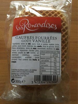 Gaufres Fourrées Goût Vanille - Producto