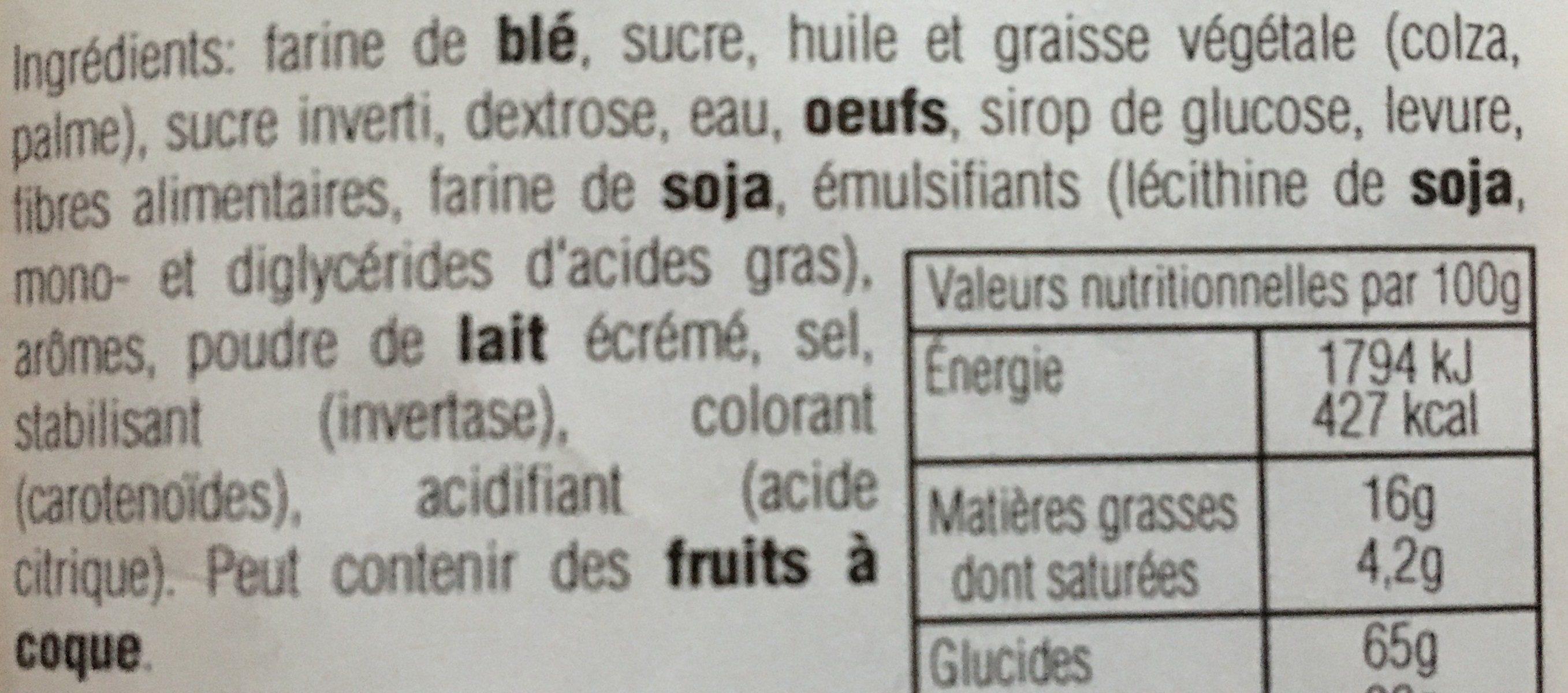 Gaufres Fourrées Goût Vanille - Ingredientes