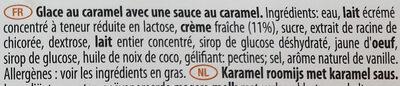 Gelato 150 calories Caramel Swirl - Ingrédients - fr