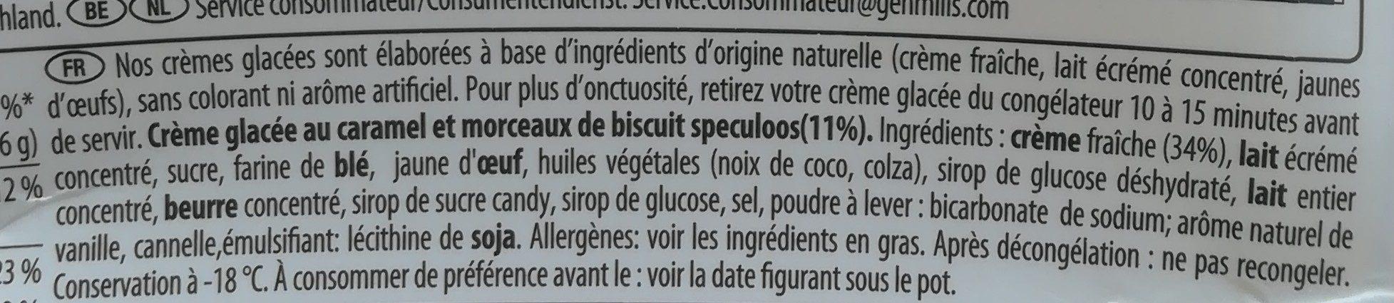 Maxi plaisir speculoos caramel biscuit cream - Ingrediënten