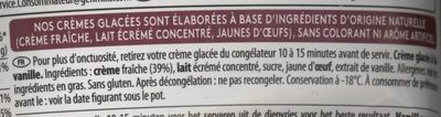 Maxi Plaisir Vanilla - Ingrédients