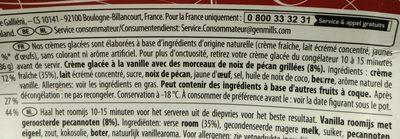 Pot Crème glacée Vanilla Pecan - Ingrédients - fr