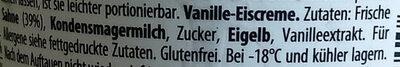 Häagen-dazs vanille - Zutaten - de