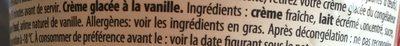 Vanilla - Ingrediënten - fr