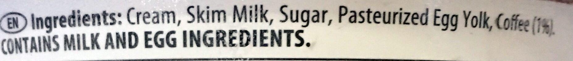 Coffee Ice Cream - Ingrédients - en