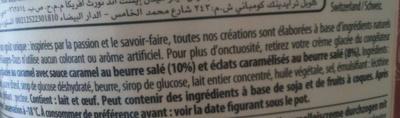 Häagen-Dazs - Salted Caramel (Caramel au beurre salé) - Ingrediënten