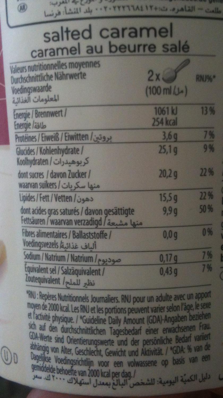 Häagen-Dazs - Salted Caramel (Caramel au beurre salé) - Voedingswaarden