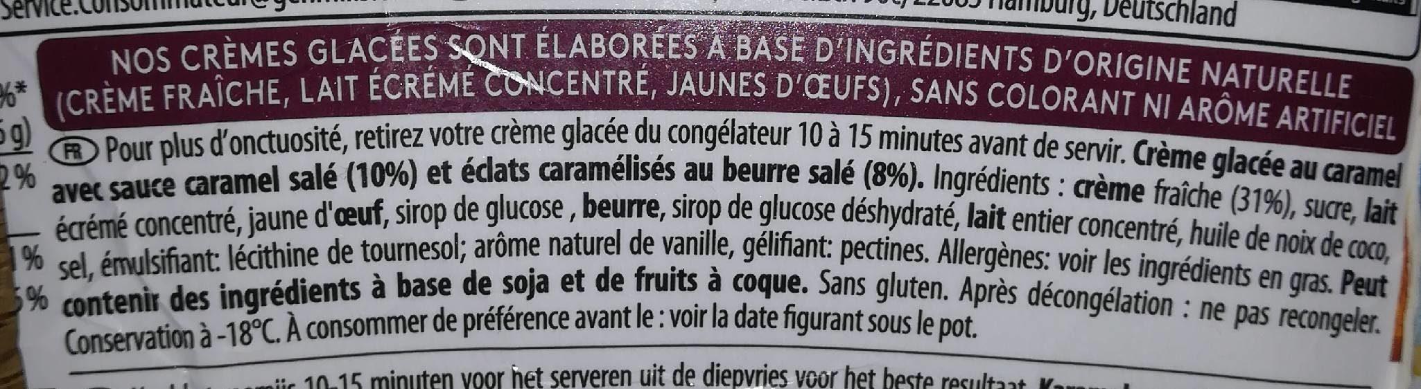 Salted caramel - Ingrédients - fr