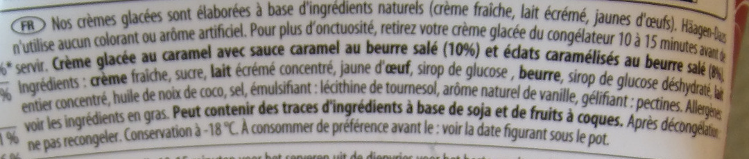 Glace caramel au beurre salé  - Ingredients