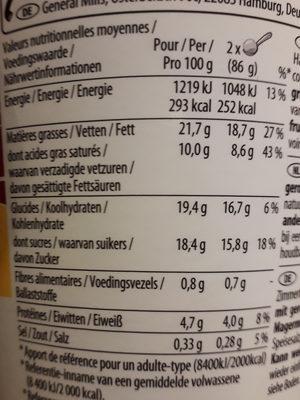 Crème glacée Vanille Pécan - Nutrition facts - fr