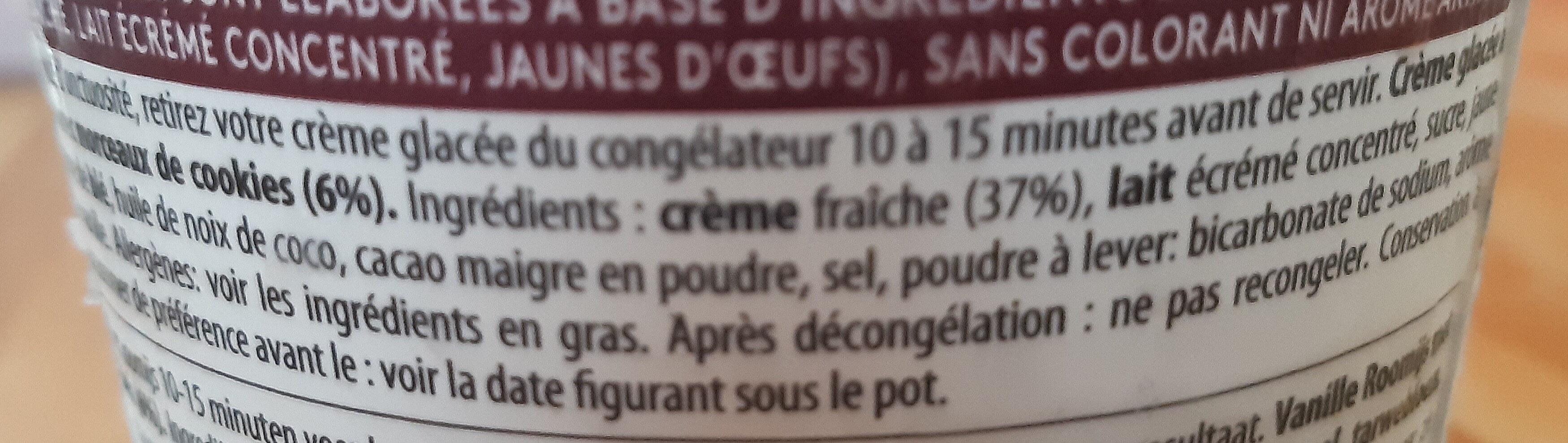 Crème glacée cookies & cream - Ingrediënten - fr