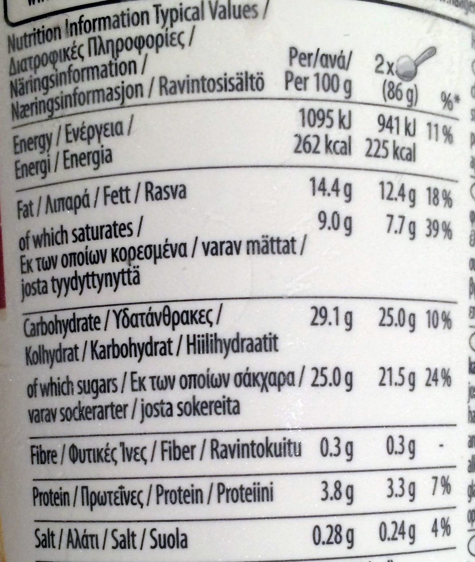 Strwaberry cheesecake - Nutrition facts - en