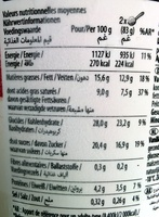 Vanilla Carmel Brownie - Nährwertangaben