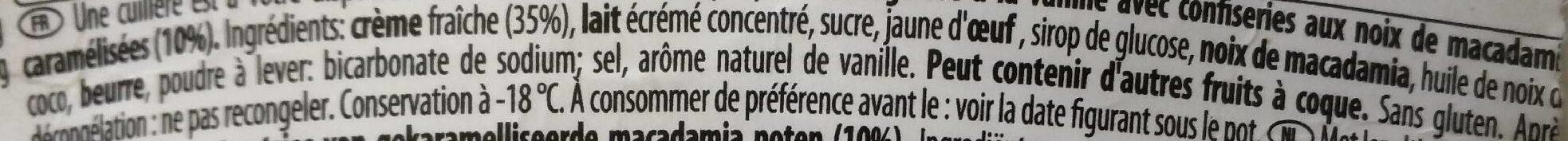 Macadamia nut brittle - Ingrédients - fr