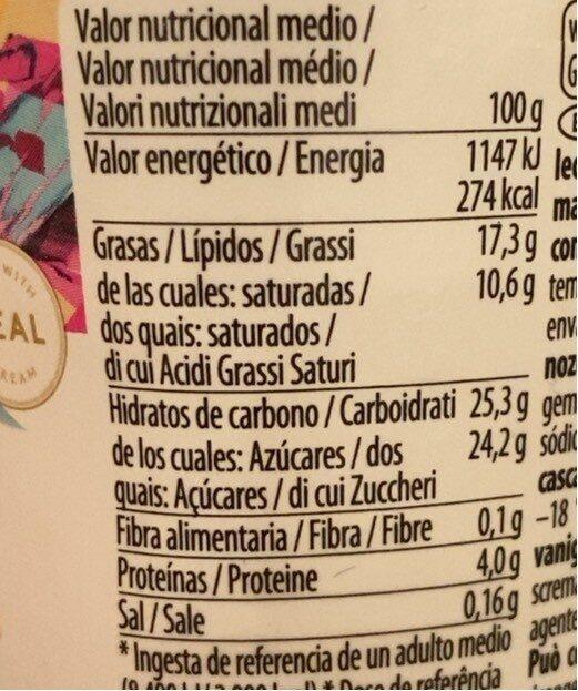Häagen Dazs  Macadamia 95ml - Nutrition facts - es