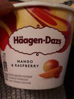 Mango raspberry crème glacée - Produit - fr