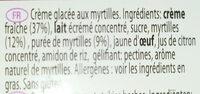 Häagen-Dazs Blueberries & cream - Ingrédients - fr