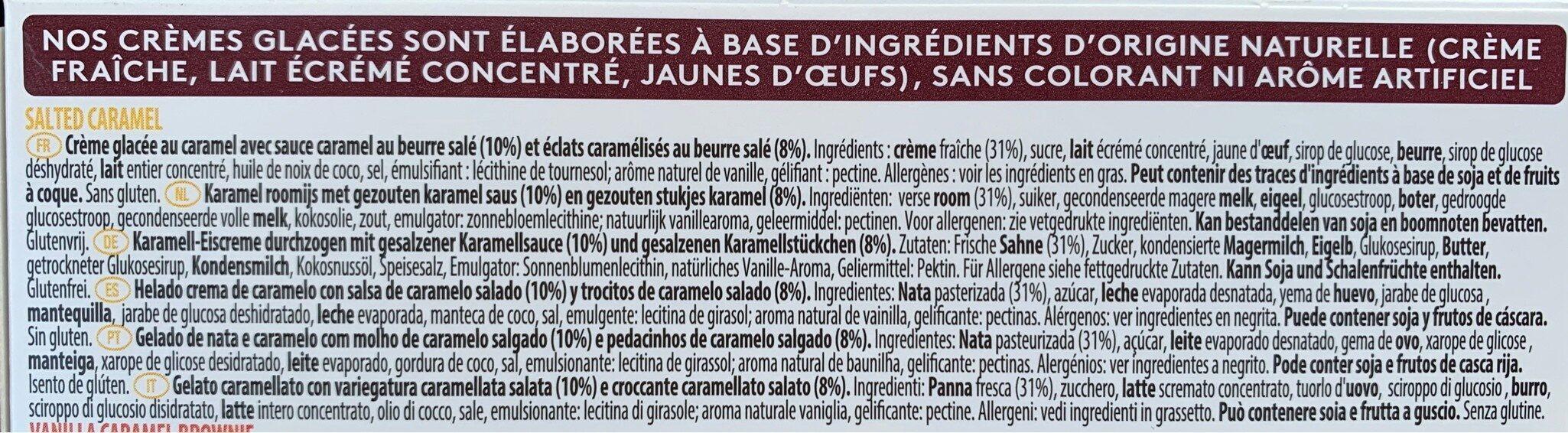 Glace Caramel Attraction - Ingrédients - fr