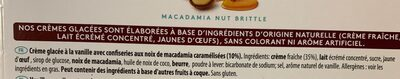 Glace Macadamia Nut Britt'e - Ingredients