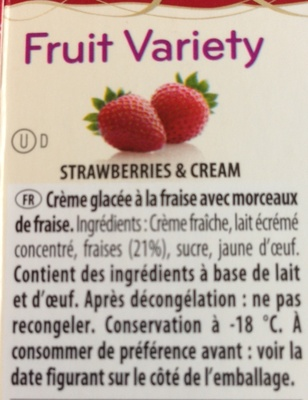 Fruit variety - Nutrition facts - fr