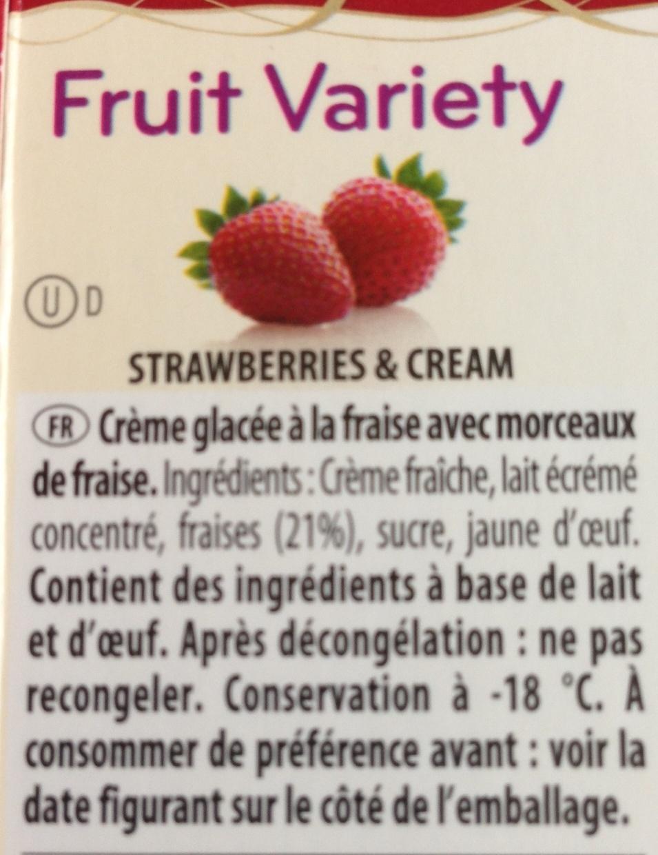 Fruit variety - Voedingswaarden - fr