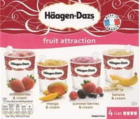 Fruit attraction (strawberries & cream, mango & cream, summer berries & cream, banana & cream) - Produit - fr