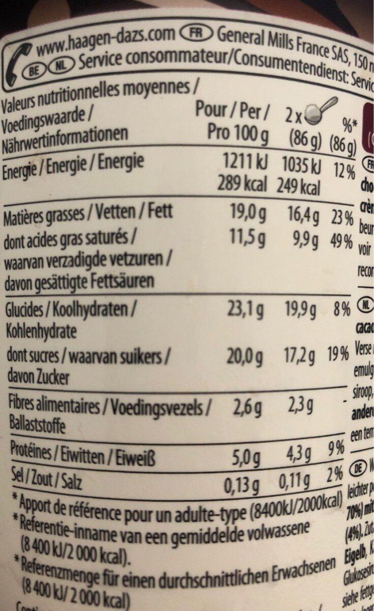 Dark chocolate & almonds - Voedigswaarden