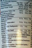 Peanut Butter Crunch - Informations nutritionnelles