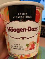 Crème glacée Häagen-dazs à la pêche et framboise - Produit - fr