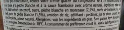 Crème glacée Häagen-dazs à la pêche et framboise - Ingrédients - fr