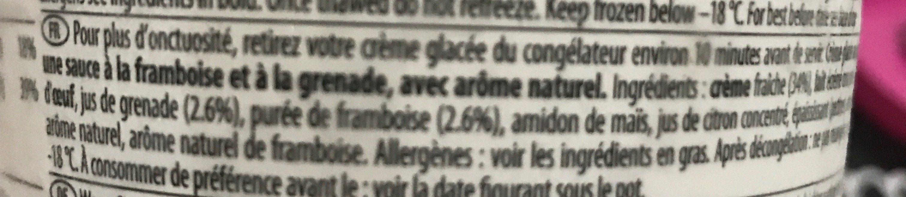 Glace - Ingrediënten
