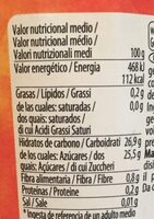 Sorbet mango - Informations nutritionnelles - fr